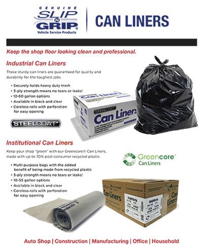 Slip-N-Grip® Can Liners